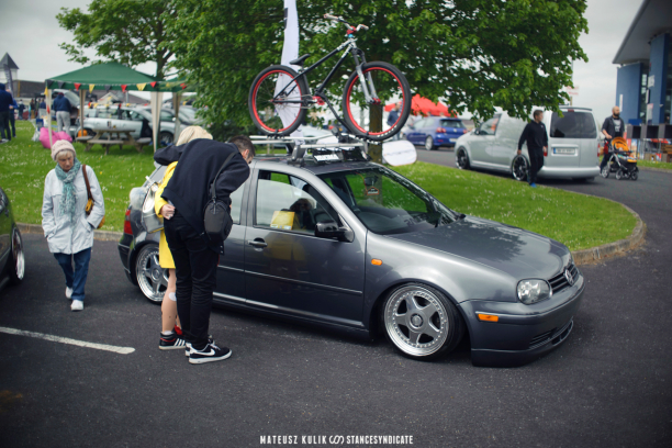 Karl's bagged VW Golf Mk4 - Limerick 2015