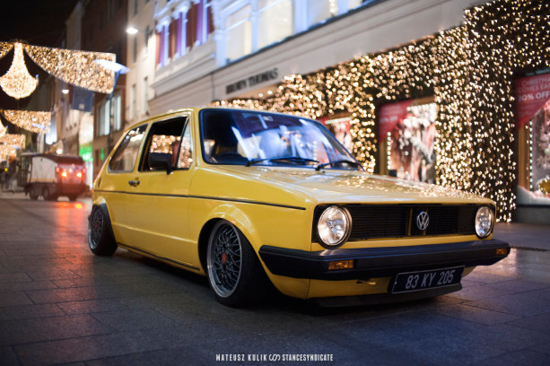 Mo's Bagged Volkswagen Golf Mk1 Diesel on BBS RA